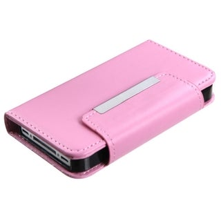 MYBAT Pink Book-Style MyJacket Wallet with Tray for Apple� iPhone 4