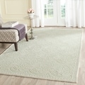 Safavieh Handmade Cambridge Moroccan Light Green/Ivory Wool Rug (8' x 10')