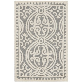 Safavieh Handmade Moroccan Cambridge Silver Wool Area Rug (3' x 5')