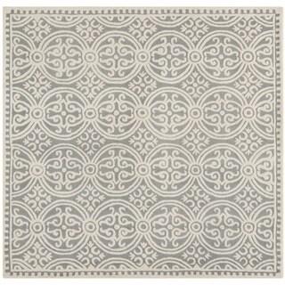 Safavieh Handmade Moroccan Cambridge Silver Wool Rug (6' Square)