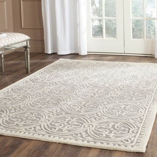 Safavieh Traditional Handmade Cambridge Moroccan Silver Wool Rug (5' x 8')