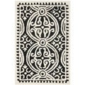 Safavieh Contemporary Handmade Moroccan Cambridge Black Wool Rug (2' x 3')