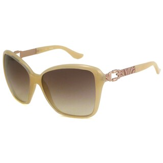 Guess Women's GU7039 Beige/Brown Rectangular Sunglasses