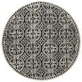 Safavieh Handmade Moroccan Cambridge Black Wool Rug (4' Round)