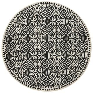 Safavieh Handmade Cambridge Moroccan Black Wool Round Rug
