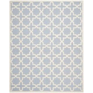 Safavieh Handmade Moroccan Cambridge Light Blue Wool Rug (6' x 9')