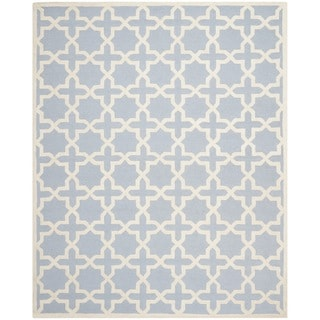 Safavieh Handmade Cambridge Moroccan Cross-Pattern Light Blue Wool Rug (8' x 10')