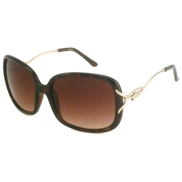 Guess Women's GU7074 Plastic Rectangular Sunglasses