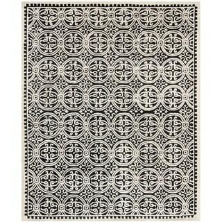 Safavieh Handmade Cambridge Moroccan Black Wool Area Rug (5' x 8')