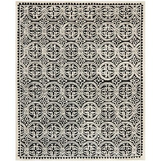 Safavieh Handmade Cambridge Moroccan Black Wool Area Rug (6' x 9')