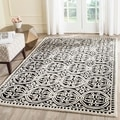Oriental Safavieh Handmade Cambridge Moroccan Black Wool Rug (8' x 10')