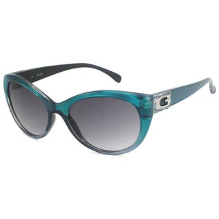 Guess Women's GU7177 Cat-Eye Teal/Gray Sunglasses