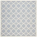Safavieh Handmade Moroccan Cambridge Light Blue Wool Rug (8' Square)