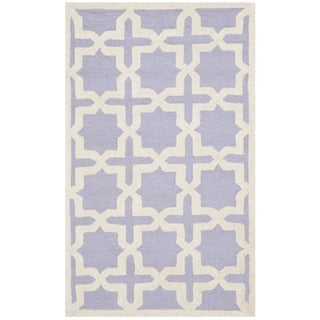 Safavieh Handmade Moroccan Cambridge Lavender Wool Rug (2'6 x 4')