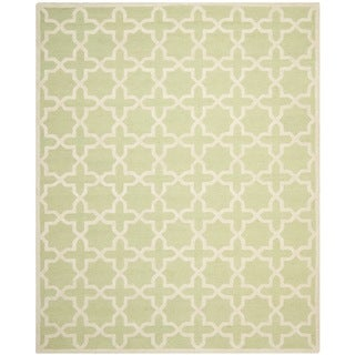 Safavieh Handmade Moroccan Cambridge Light Green Wool Rug (6' x 9')