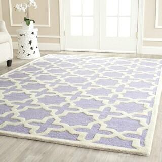 Safavieh Handmade Moroccan Cambridge Lavender Wool Rug (5' x 8')