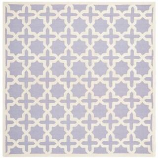 Safavieh Handmade Moroccan Cambridge Lavender Wool Rug (6' Square)