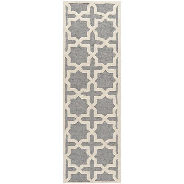 Safavieh Handmade Moroccan Cambridge Silver Wool Rug (2'6 x 6')