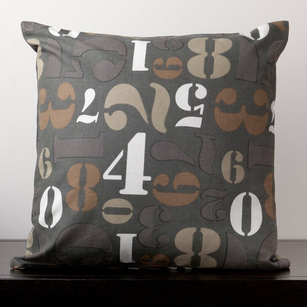 Avery Iron Ore Numbers Novelty 22-inch Decorative Pillow