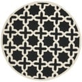 Safavieh Handmade Moroccan Cambridge Black Wool Rug (6' Round)