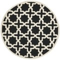 Safavieh Handmade Cambridge Moroccan Black Wool Rug (6' Round)