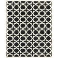 Safavieh Handmade Moroccan Cambridge Black Wool Rug (6' x 9')