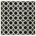 Safavieh Handmade Cambridge Moroccan Black Wool Rug (6' Square)