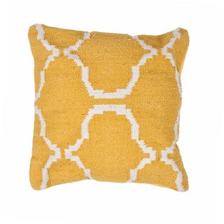 Contemporary Cotton Gold/ Yellow Square Pillows (Set of 2 )