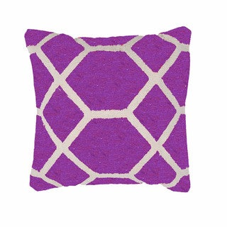 Contemporary Cotton Pink/ Purple Square Pillows ( Set of 2 )