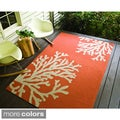 Hand-hooked Indoor/ Outdoor Abstract Rug (7'6 x 9'6)