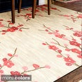 Hand-tufted Transitional Floral Area Rug (7'6 x 9'6)