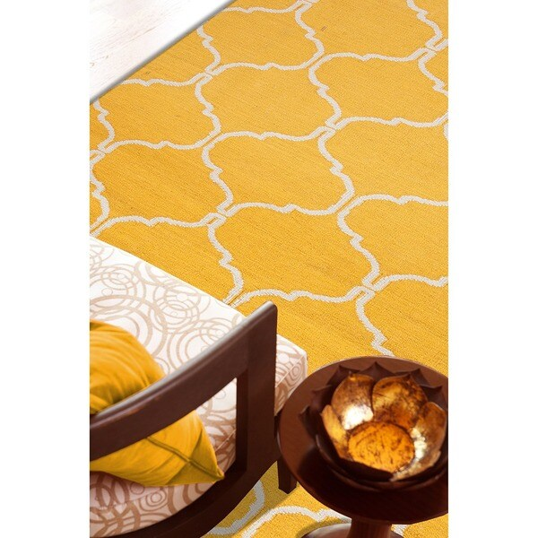 Handmade Flat Weave Moroccan Wool Area Rug (8' x 10')