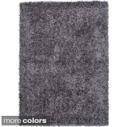 Solid Woven Shag Area Rug (7'6 x 9'6)