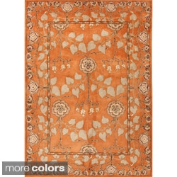 Hand-tufted Transitional Oriental Wool Area Rug ( 5' x 8' )