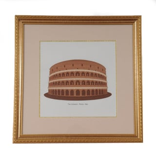 Old Modern Handicrafts 'The Coliseum - Roma Italy' Wood Veneer Art