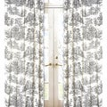 Black French Toile 84-inch Curtain Panel Pair
