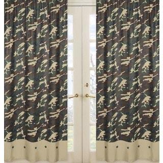 Green Camo 84-inch Curtain Panel Pair