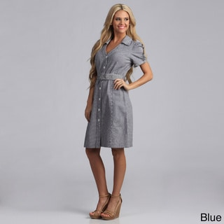 Live A Little Women's Belted Shirt Dress