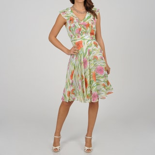 CeCe&#39;s New York Women&#39;s Garden Party Sleeveless Dress