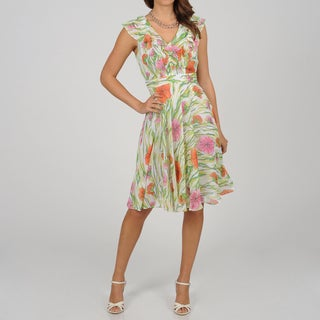 CeCe's New York Women's Garden Party Sleeveless Dress