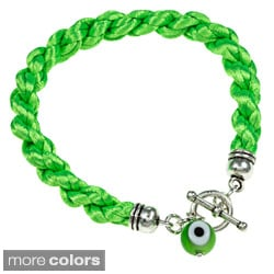 Evil Eye Braided Toggle Bracelet (Guatemala)
