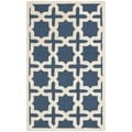 Safavieh Handmade Cambridge Moroccan Navy Cross-Pattern Wool Rug (4' x 6')