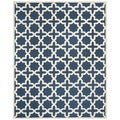 Safavieh Handmade Cambridge Moroccan Navy Geometric Wool Rug (5' x 8')