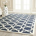 Safavieh Handmade Cambridge Moroccan Navy Wool  Cotton-Canvas Backing Rug (9' x 12')