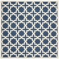 Safavieh Handmade Cambridge Moroccan Navy Wool Rug (6' Square)