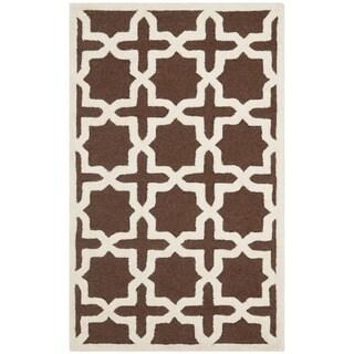 Safavieh Handmade Cambridge Moroccan Dark Brown Wool Area Rug (3' x 5')