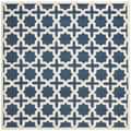 Safavieh Handmade Moroccan Cambridge Navy Wool Rug (8' Square)
