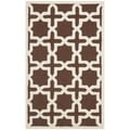Safavieh Handmade Cambridge Moroccan Dark Brown Cross Pattern Wool Rug (4' x 6')