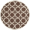 Safavieh Handmade Cambridge Moroccan Dark Brown Wool Area Rug (6' Round)