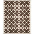 Contemporary Safavieh Handmade Cambridge Moroccan Dark Brown Wool Rug (8' x 10')